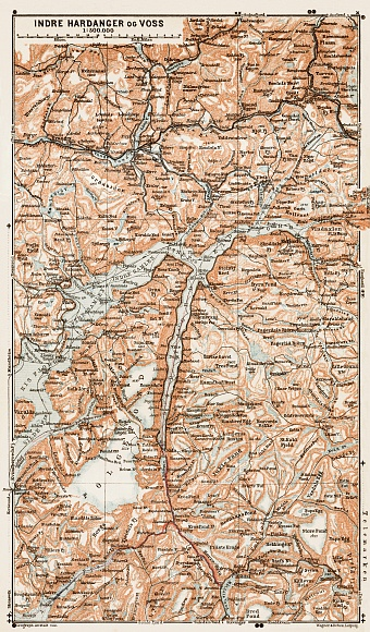 Indre Hardanger and Voss, region map, 1931
