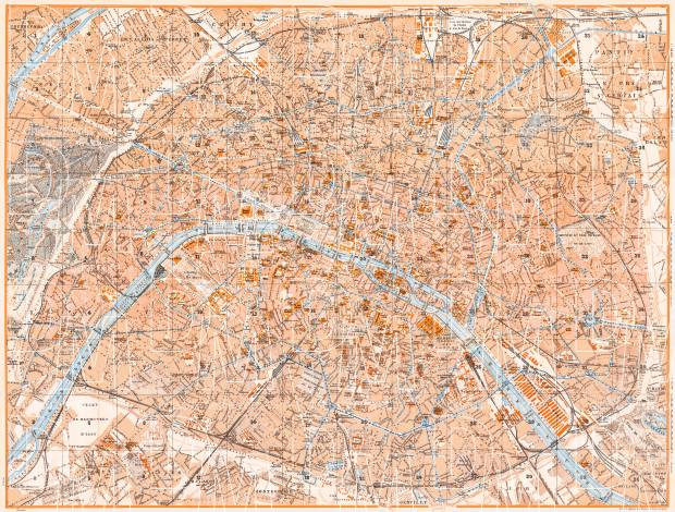 Paris city map, 1931. Use the zooming tool to explore in higher level of detail. Obtain as a quality print or high resolution image