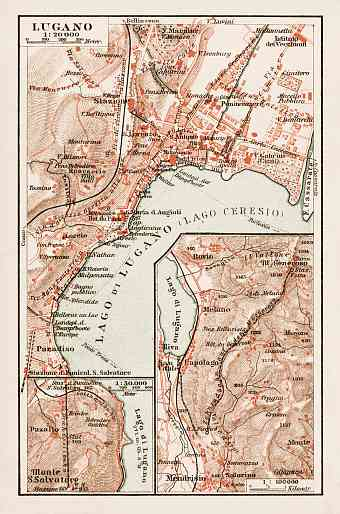 Lugano city map, 1903