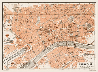 Frankfurt (Frankfurt-am-Main) city map, 1909