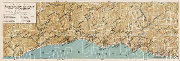 The Black Sea coast of the Caucasus: Tuapse and environs, 1912. Use the zooming tool to explore in higher level of detail. Obtain as a quality print or high resolution image