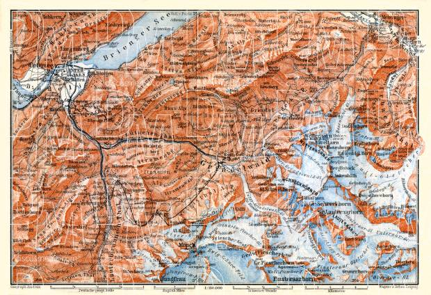 Grindelwald map, 1897. Use the zooming tool to explore in higher level of detail. Obtain as a quality print or high resolution image
