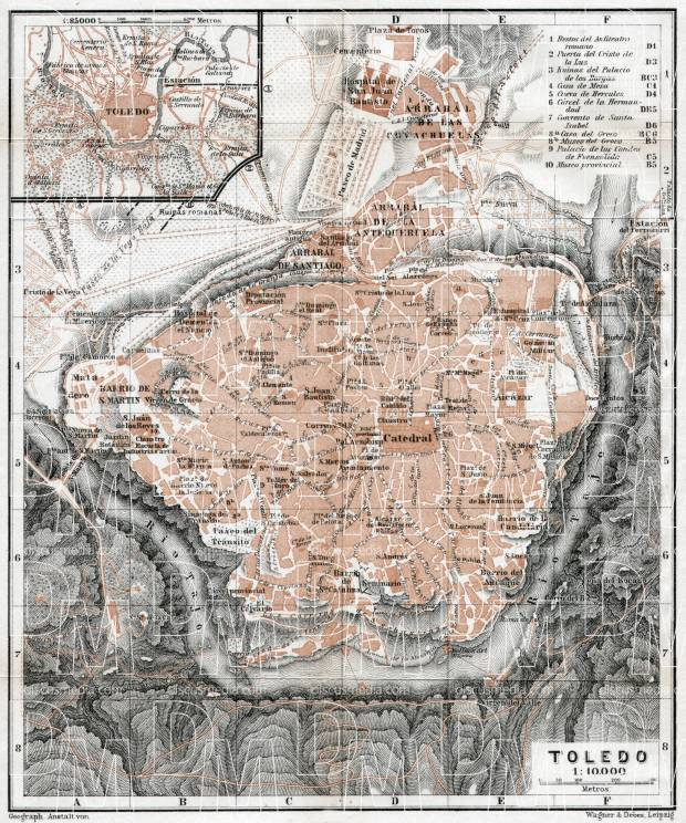 Toledo city map, 1913. Use the zooming tool to explore in higher level of detail. Obtain as a quality print or high resolution image