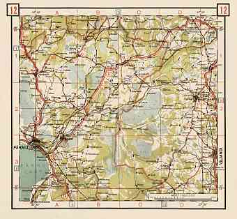 Estonian Road Map, Plate 12: Vandra. 1938