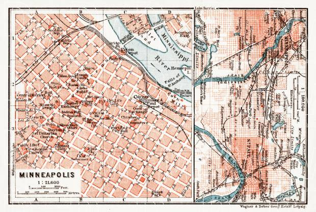 Old Map Of Minneapolis And Vicinity Of StPaul And Minneapolis In - Vintage minneapolis map