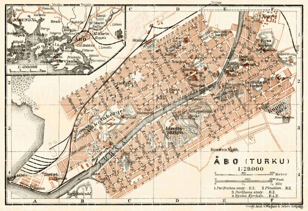 Åbo (Turku) city map, 1914. Use the zooming tool to explore in higher level of detail. Obtain as a quality print or high resolution image