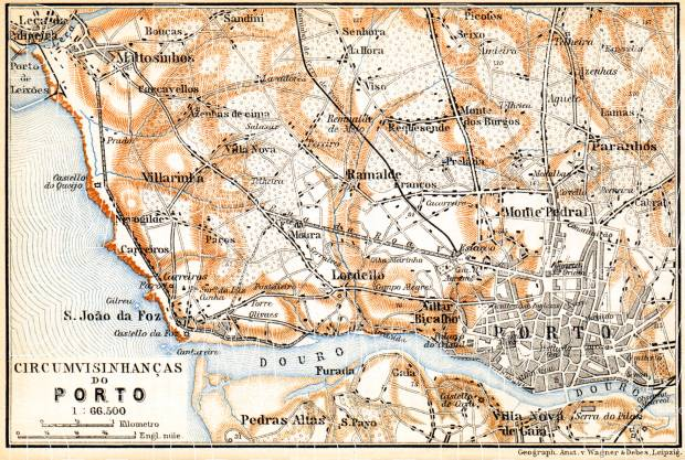 Porto and environs map, 1899. Use the zooming tool to explore in higher level of detail. Obtain as a quality print or high resolution image