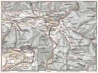 Ischl (Bad Ischl) and environs map, 1910