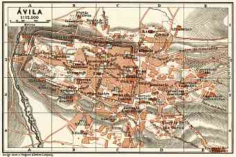 Ávila city map, 1899