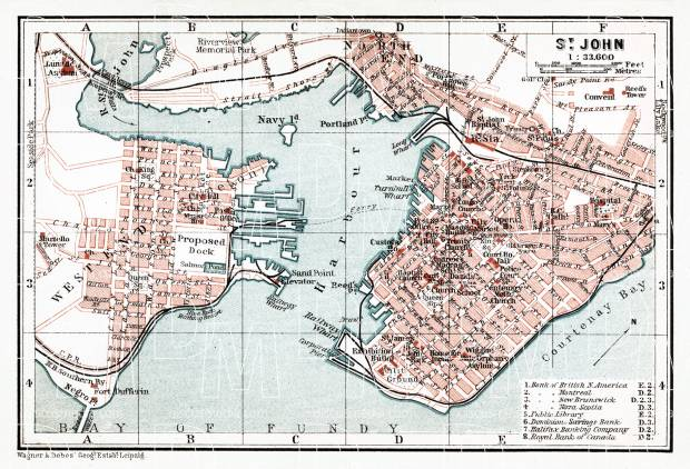 St. John city map, 1907. Use the zooming tool to explore in higher level of detail. Obtain as a quality print or high resolution image
