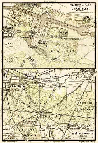 Chantilly, Château de Chantilly map, 1903