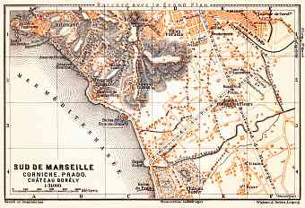 Map of the south suburbs of Marseille, 1900
