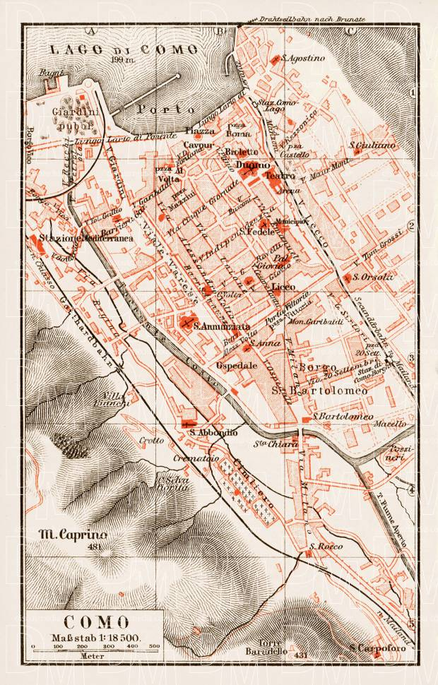 Como city map, 1903. Use the zooming tool to explore in higher level of detail. Obtain as a quality print or high resolution image