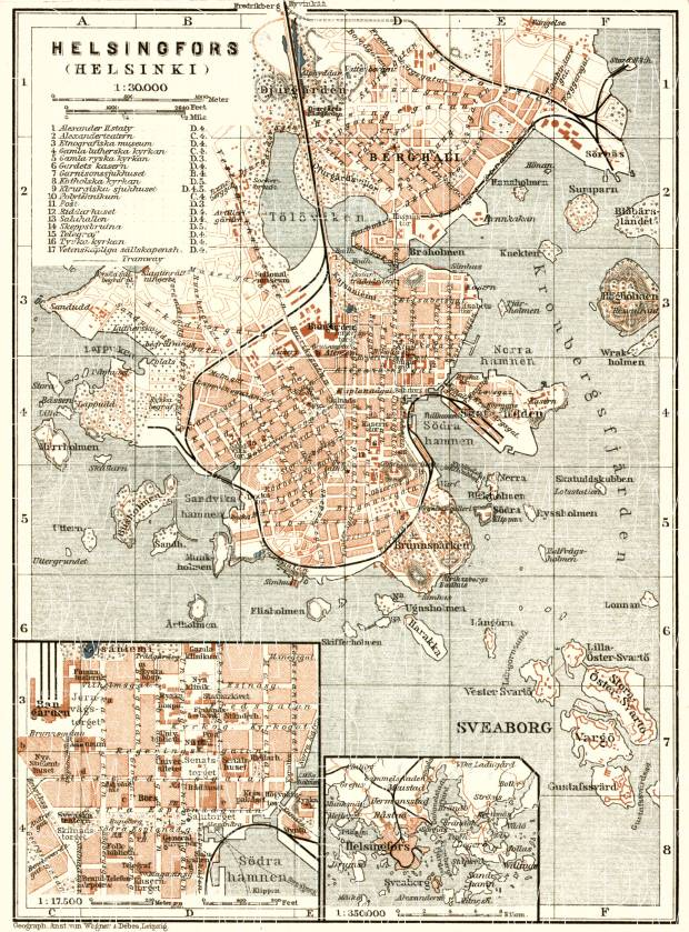 Helsingfors (Helsinki) city map, 1914. Use the zooming tool to explore in higher level of detail. Obtain as a quality print or high resolution image