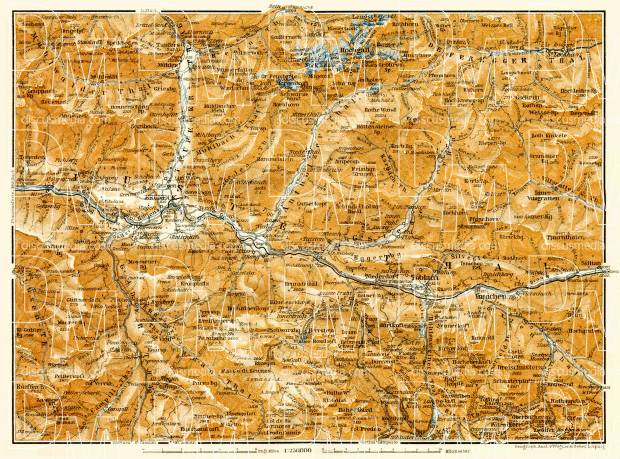 Puster Valley map, 1906. Use the zooming tool to explore in higher level of detail. Obtain as a quality print or high resolution image