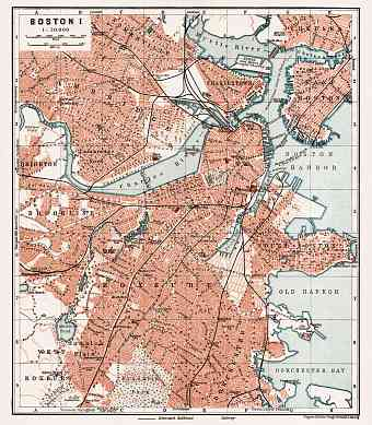 Boston city map, 1909 (Boston I: General Plan)