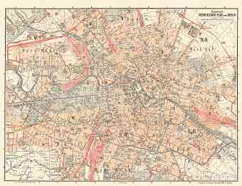 Berlin city map, 1897