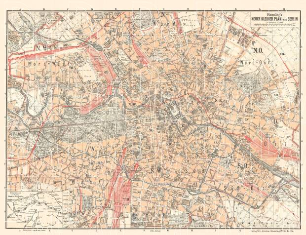 Berlin city map, 1897. Use the zooming tool to explore in higher level of detail. Obtain as a quality print or high resolution image