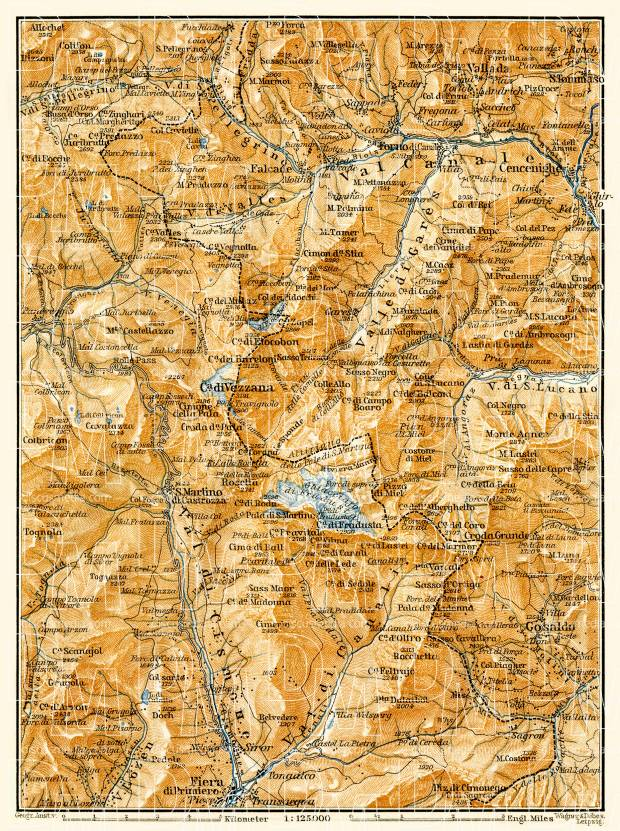 Primiera environs map, 1906. Use the zooming tool to explore in higher level of detail. Obtain as a quality print or high resolution image