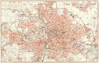 Historical Map Prints Of Berlin And Potsdam In Germany For Sale And - Vintage map berlin