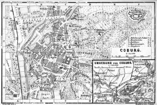 Coburg City Map Environs Of 1887 Use The Zooming Tool To Explore