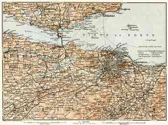 Edinburgh and it´s farther environs map, 1906