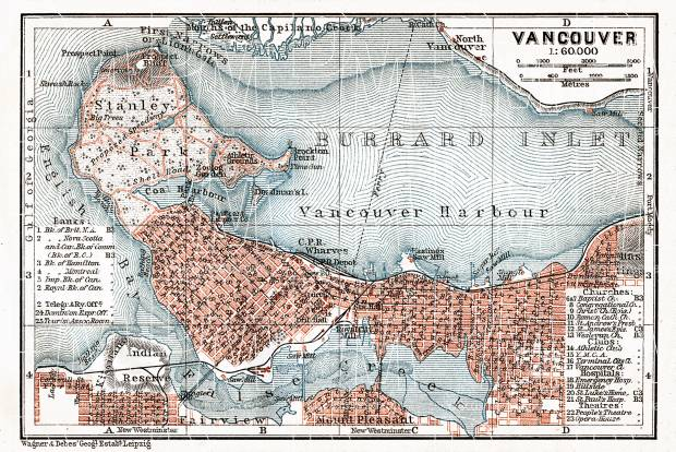 Old map of vancouver in 1907 buy vintage map replica poster print vancouver city map 1907 use the zooming tool to explore in higher level of gumiabroncs Choice Image