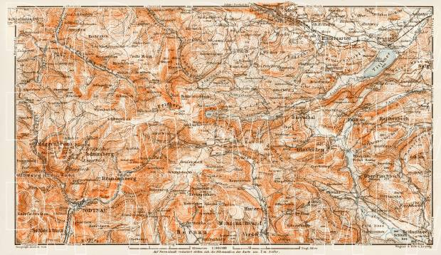 Map of the environs of Feldberg im Schwarzwald, 1909. Use the zooming tool to explore in higher level of detail. Obtain as a quality print or high resolution image