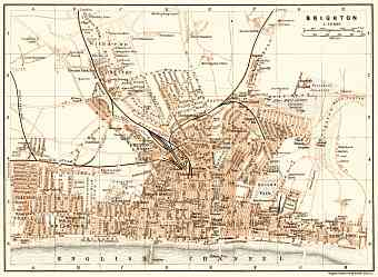 Brighton city map, 1906