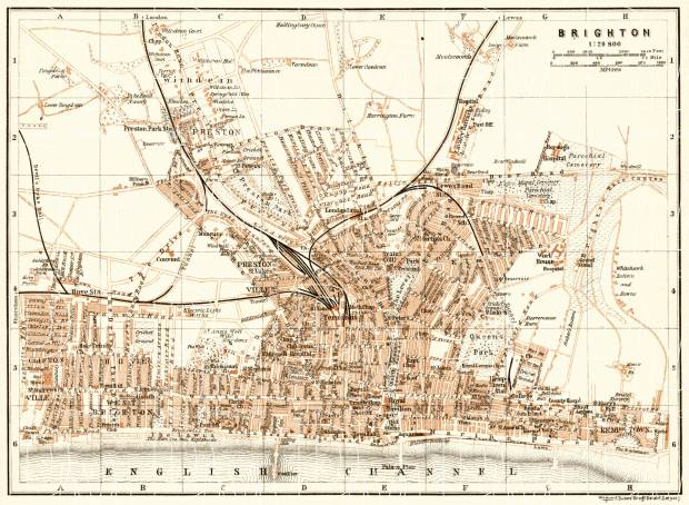 Brighton city map, 1906. Use the zooming tool to explore in higher level of detail. Obtain as a quality print or high resolution image