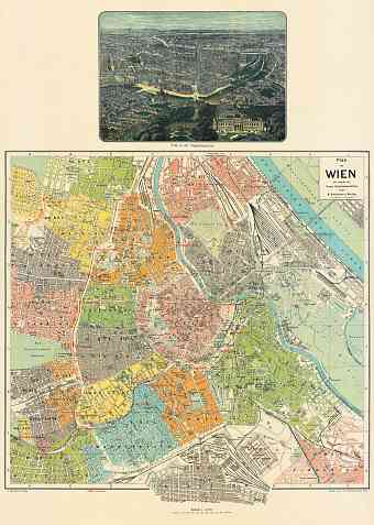 Vienna (Wien) city map, 1912