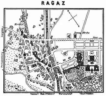 Bad Ragaz (Ragatz) map, 1897