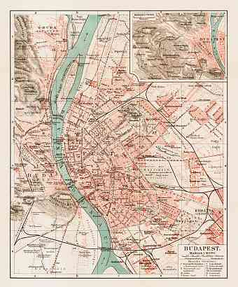 Budapest and its environs map, 1903