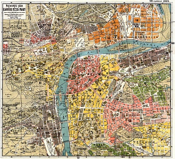 Prague (Praha) city map, 1924