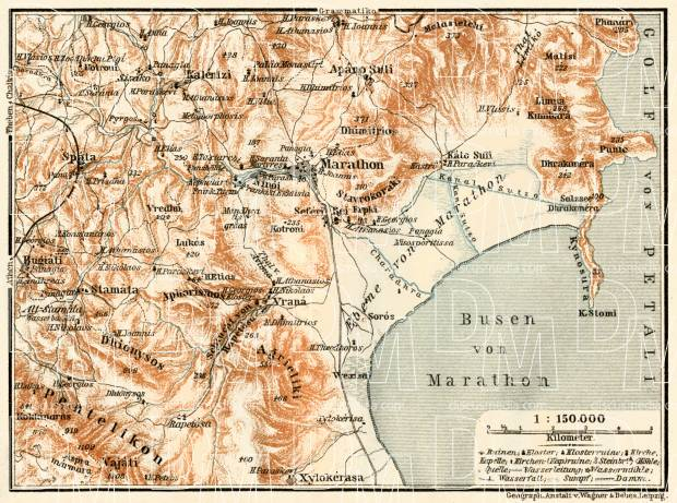 Marathon, environs map, 1908. Use the zooming tool to explore in higher level of detail. Obtain as a quality print or high resolution image
