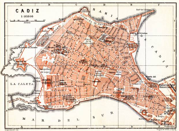 Map Of Spain Cadiz.Historical Map Prints Of Cadiz In Spain For Sale And Download Map