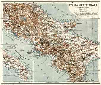 Central Italy map, 1929