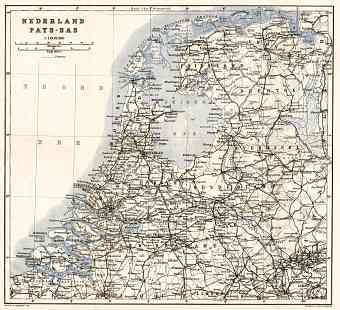 The Netherlands, general map, 1909