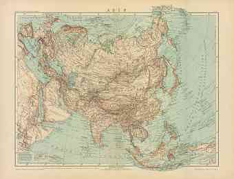 Asia General Map (in Russian), 1910