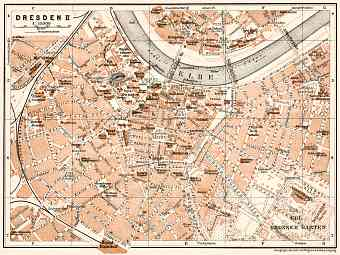 Dresden central part map, 1911