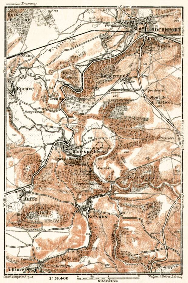 Rochefort and environs map, 1909. Use the zooming tool to explore in higher level of detail. Obtain as a quality print or high resolution image