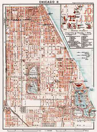 Chicago II city map, 1909