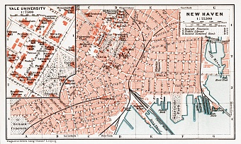 New Haven city map, 1909