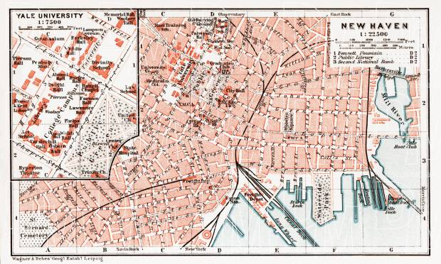 old map of new haven in 1909 buy vintage map replica poster print or download picture. Black Bedroom Furniture Sets. Home Design Ideas