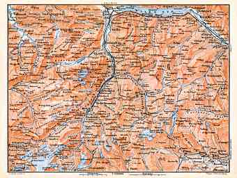 Glarus and environs map, 1897