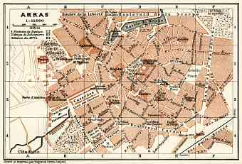 Arras city map, 1913