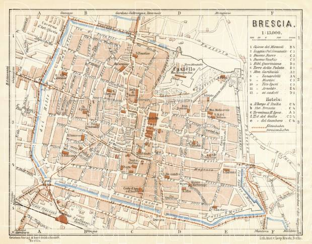 Brescia town plan, 1929. Use the zooming tool to explore in higher level of detail. Obtain as a quality print or high resolution image