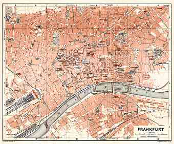 Frankfurt (Frankfurt-am-Main) city map, 1906