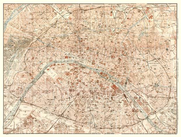 Paris city map, 1903. Use the zooming tool to explore in higher level of detail. Obtain as a quality print or high resolution image