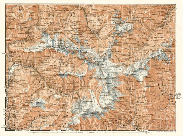 Ortler Alps general map, 1906. Use the zooming tool to explore in higher level of detail. Obtain as a quality print or high resolution image